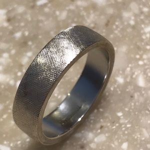 14K Solid White Gold Wedding Band Sz 5 1/2